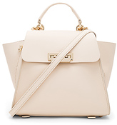 Zac Posen Eartha Iconic Convertible Solid Backpack in Cream.