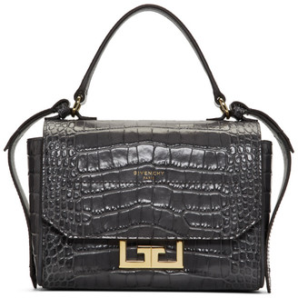 Givenchy Grey Croc Mini Eden Bag