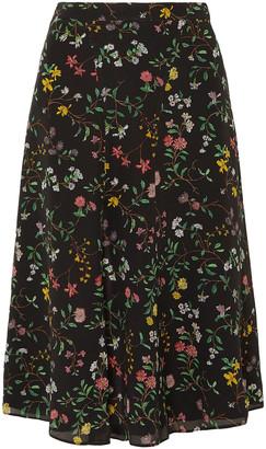 Altuzarra Floral-print Silk Crepe De Chine Skirt