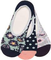 Vans Floral Dots No Show Liners - 3 Pack - Women's