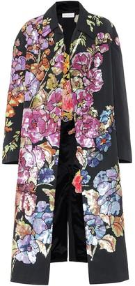 Dries Van Noten Embellished cotton-blend coat