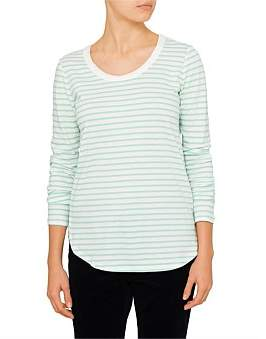 David Jones Long Sleeve Cotton Top