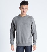 Roundel London Grey 55 Broadway French Terry Crewneck Sweater