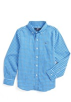 Vineyard Vines Toddler Boy's Fishlock Gingham Whale Shirt