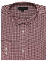 George Burgundy Check Regular Fit Shirt