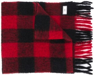 AMI Paris Large Checkered Scarf