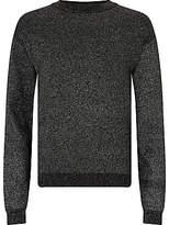 John Lewis Girls' Sparkle Lurex Knitted Jumper, Black