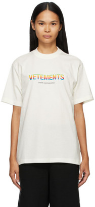 Vetements Off-White Think Differently Logo T-Shirt