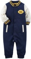 """Carter's Baby Boy Tiny But Mighty All-Stars"""" French Terry Coverall"""