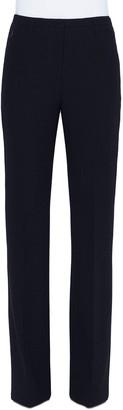 Akris Farrah Boot-Cut Mid-Rise Wool Pants