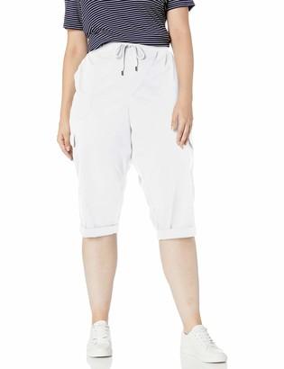 Chaps Women's Plus Size Stretch Cotton Cargo Pant