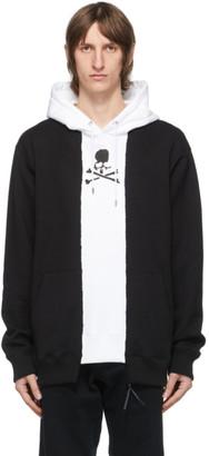 Mastermind Japan Black and White Patchwork Hoodie