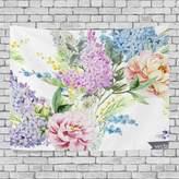 JSTEL Home Fashion Custom Rainforest Leaf Flower Tapestry Wall Decor Living Room, Throw Bedspread, Dorm Tapestries DIY
