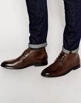 Ben Sherman Chuka Boot In Leather - Brown