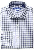 Vince Camuto Men's Slim Fit Stretch Windowpane Dress Shirt with Comfort Collar
