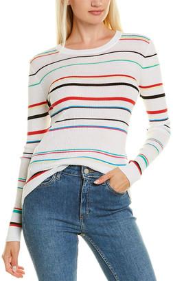 Autumn Cashmere Cotton By Stripe Rib T-Shirt