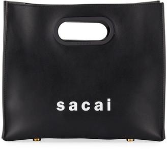 Sacai Small Leather Shopper Tote Bag