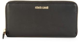 Roberto Cavalli Leather Zip-Around Wallet