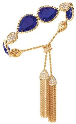 Boucheron Yellow Gold, Diamond and Lapis Lazuli Serpent Boheme Bracelet