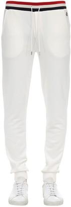 Moncler French Flag Cotton Jersey Sweatpants