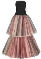 Oscar de la Renta Tiered Tulle Gown