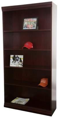 Norsons Essentials Laminate Bookcase Jefferson Traditional Wood Veneer Heavy Duty Bookcase, Medium Cherry,