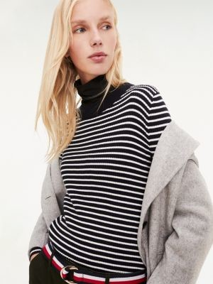 Tommy Hilfiger Stripe Crew Neck Jumper