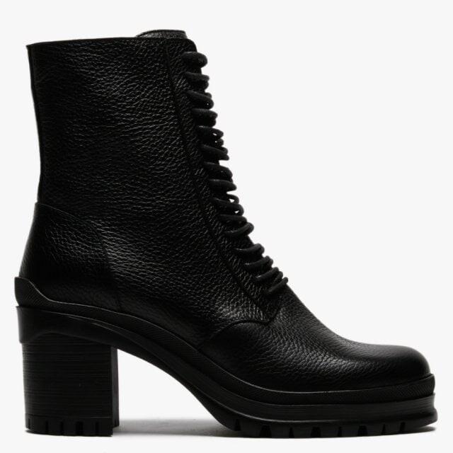 Daniel Pled Black Leather Lace Up Ankle Boots