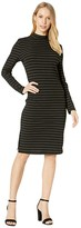 BB Dakota Gold Rush Lurex Rib Knit Midi with Back Keyhole (Black) Women's Dress