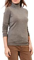 Lauren Ralph Lauren Petite Silk-Cotton Turtleneck Top