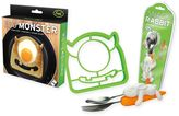 Fred & Friends Egg Monster Bread Cutter and Snack Rabbit Nesting Utensils
