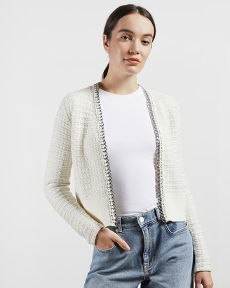 Ted Baker ELODA Boucle style cardigan with chain detail