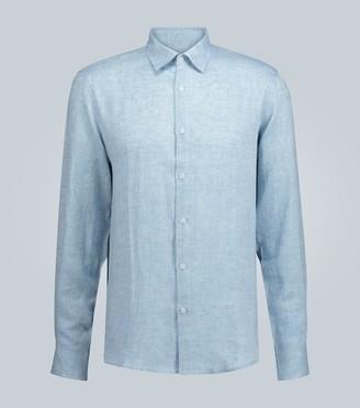 Sunspel Long-sleeved linen shirt