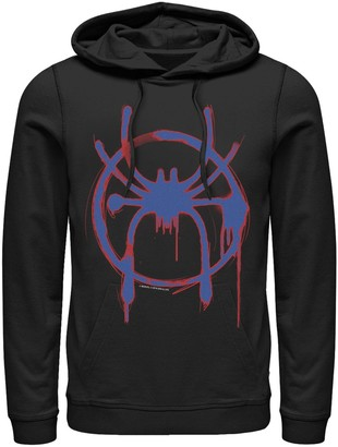 Licensed Character Men's Marvel Into The Spider-Verse Spray Paint Logo Hoodie