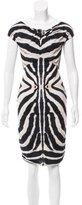 Just Cavalli Printed Off-The-Shoulder Dress