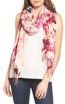 Nordstrom Women's Tropical Camo Cashmere & Wool Scarf