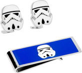 Cufflinks Inc. Men's Storm Trooper Head Cufflinks and Money Clip Set