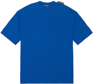 Balenciaga Short Sleeve Large Fit Tee in Electric Blue | FWRD