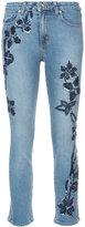 Jonathan Simkhai embroidered slim-fit jeans