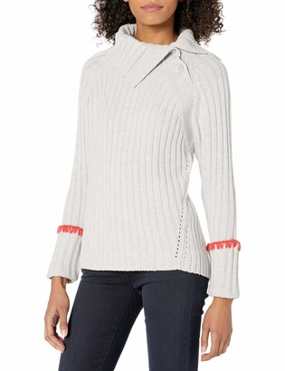 Rebecca Taylor Women's Long Sleeve Cozy Ribbed Tunic Pullover