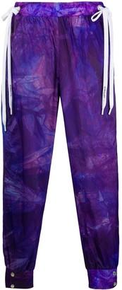 KHRISJOY Double-Drawstring Tie-Dye Track Pants