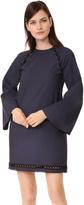 Derek Lam 10 Crosby Bell Sleeve Dress with Lacing