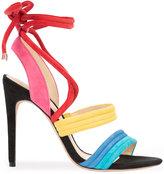 Alexandre Birman open toe lace-up sandals - women - Calf Leather/Calf Suede - 37