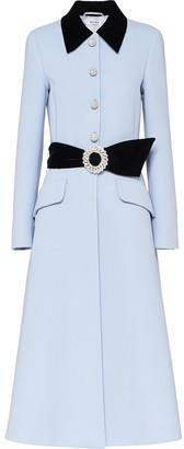 Miu Miu Embellished Belted Coat