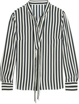 Iris and Ink Striped silk blouse