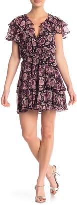 Rebecca Minkoff Miley Floral Ruffled Mini Dress