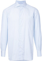 Isaia pastel striped shirt - men - Cotton - 39