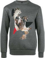 Neil Barrett owl print sweatshirt - men - Viscose/Polyurethane - L