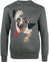 Neil Barrett owl print sweatshirt - men - Viscose/Polyurethane - M