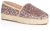 Kate Spade Linds Too Glitter Platform Espadrilles